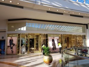 Wide photo of a Jimmy Choo store