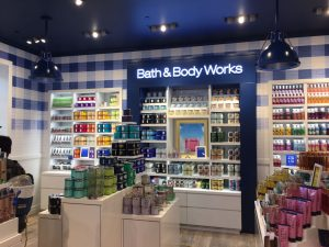 Photo of a Bath And Body Works display case