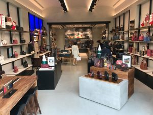 Inside of a women's accessories store