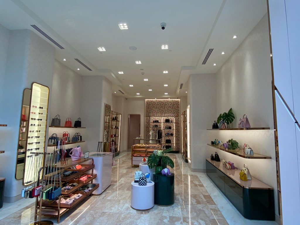 Inside of the Kate Spade New York store