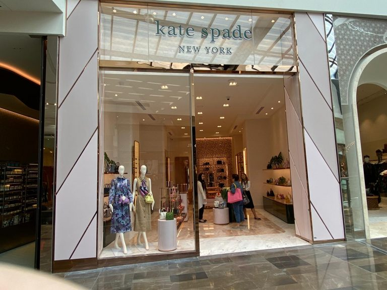 Outside of the store Kate Spade New York